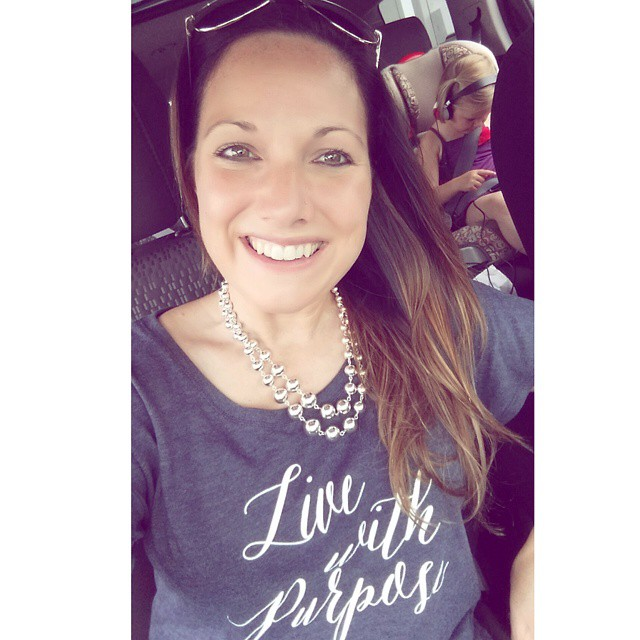 Wearing my new livewithpurpose shirt out and about today! Sohellip
