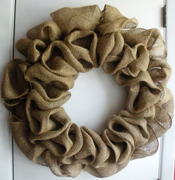 Burlap wreath tutorial for What to make with burlap