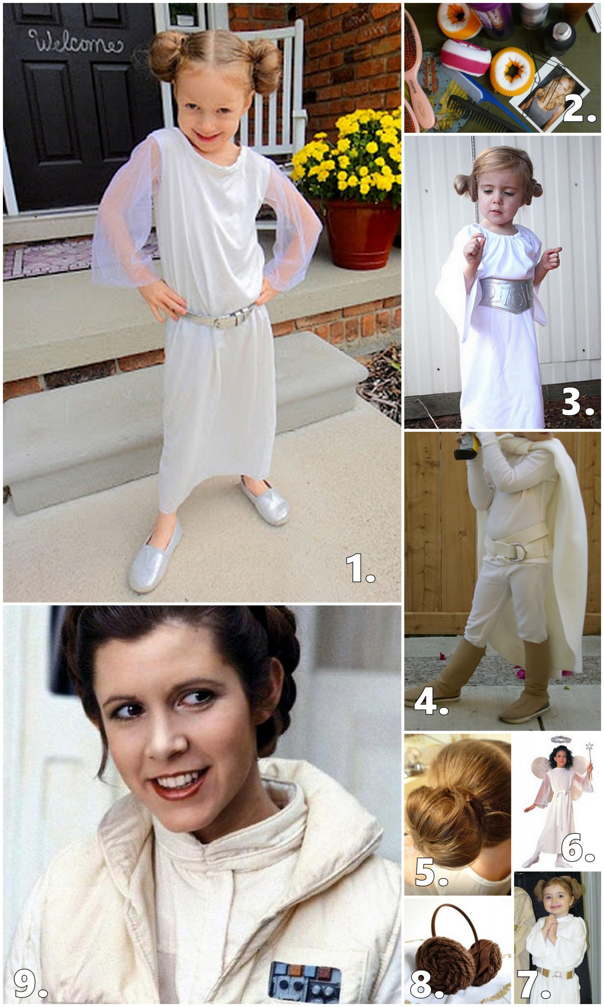 DIY PRINCESS LEIA COSTUME IDEAS