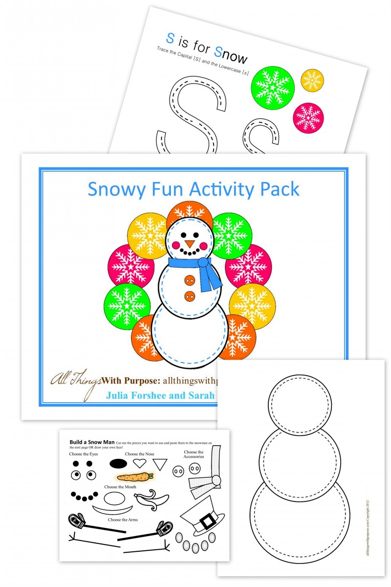 snowy fun activity pack