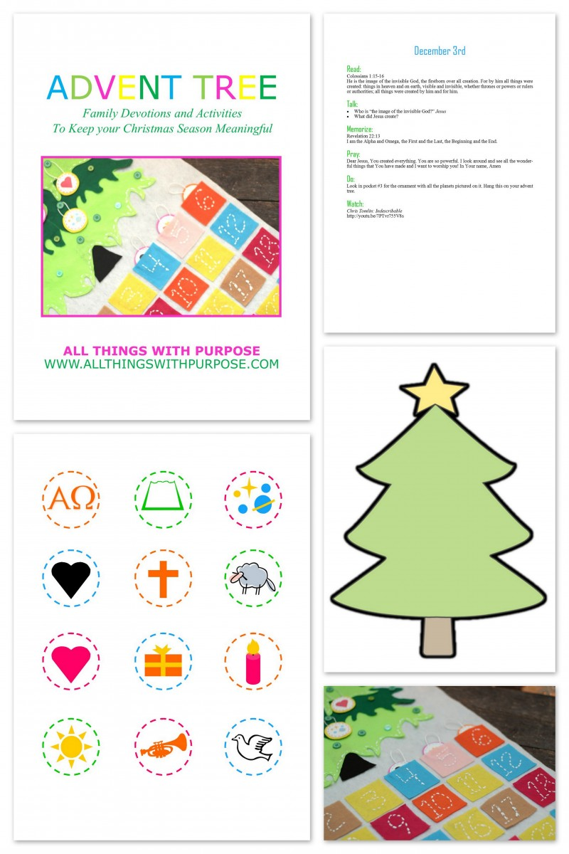 Advent Calender Printable Pack and Family Devotions - Includes Pattern and Tablet Friendly PDF