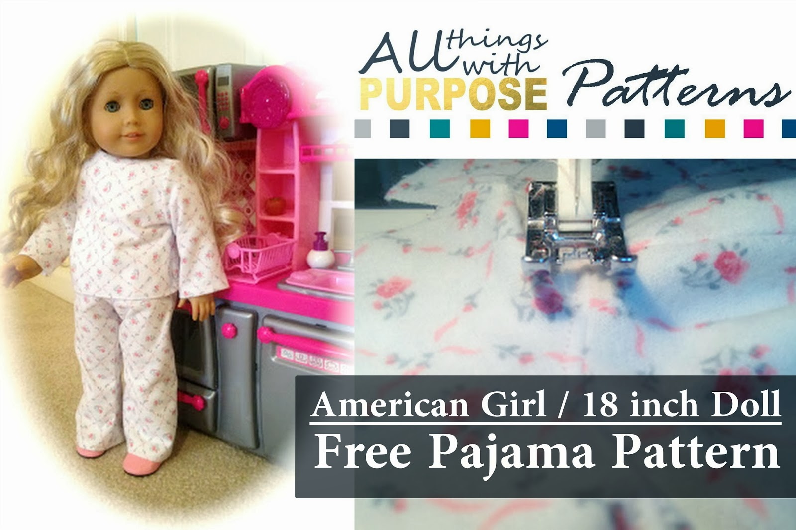 American Girl Doll PJ's {FREE} Pattern