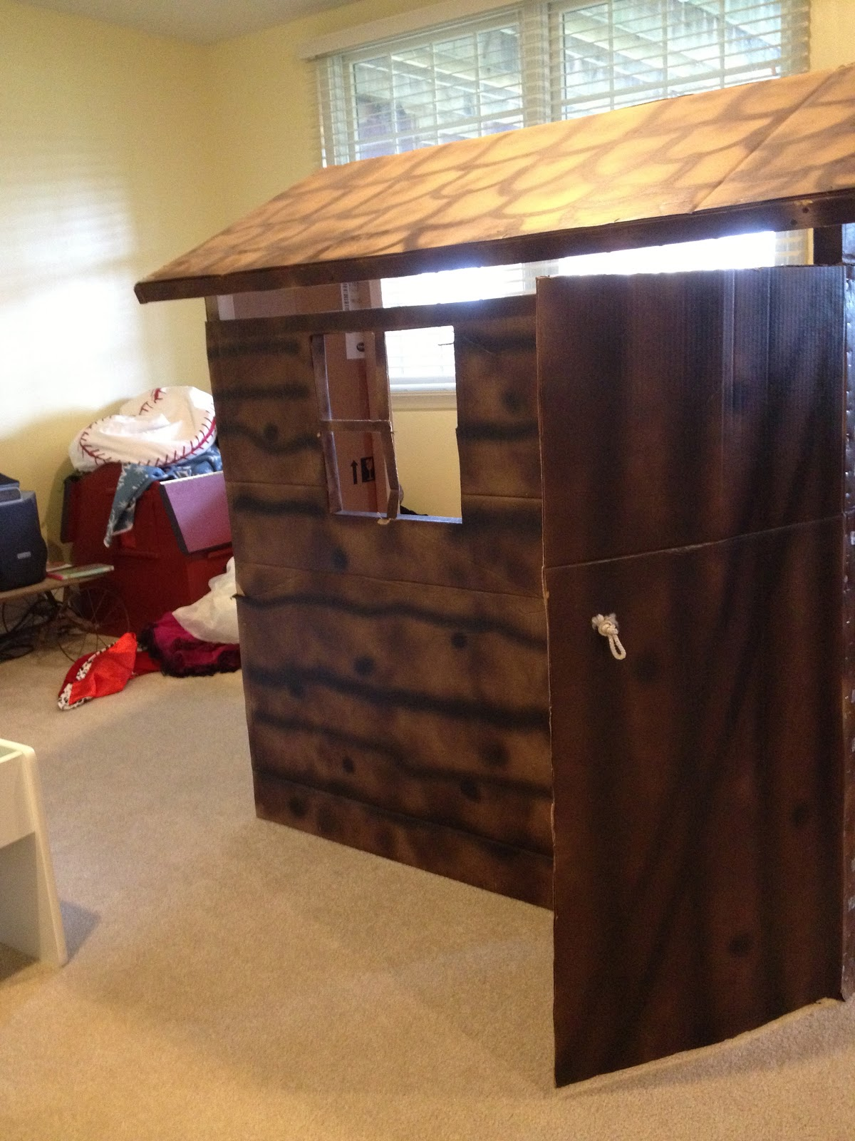 Diy Western Log Cabin Play House All Things With Purpose