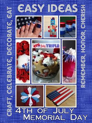 patriotic menu, crafts, activities, decorating ideas