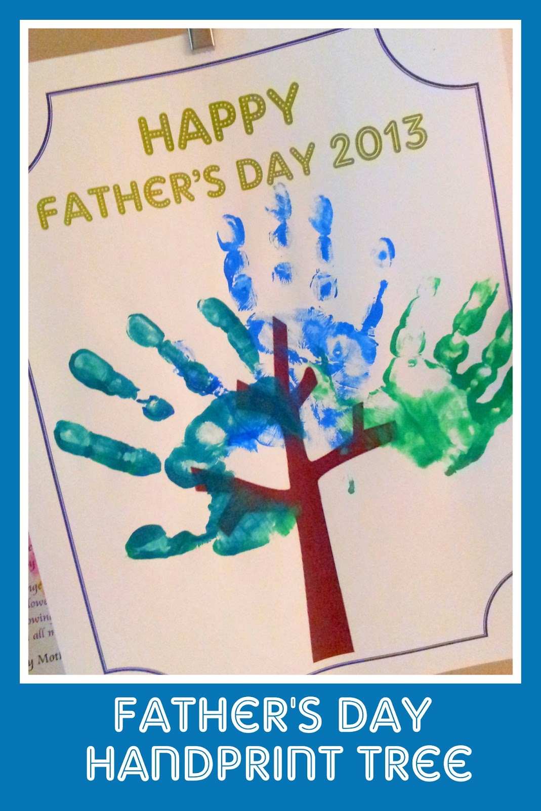father s day hand print tree all things with purpose
