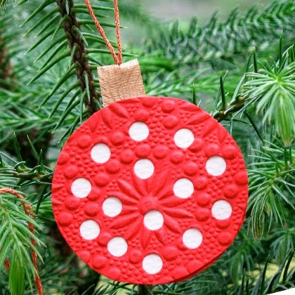 mini polka dot ornament