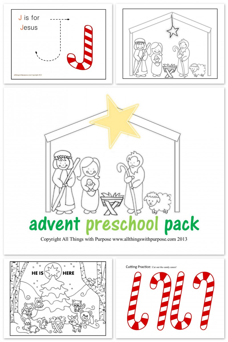 Advent Calendar Craft Kindergarten : Preschool advent activity pack