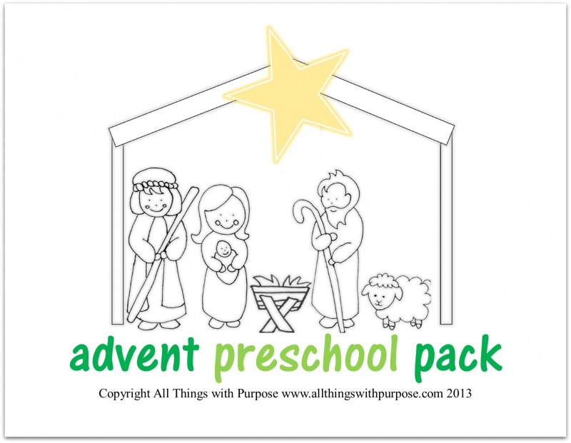 nativity printable image