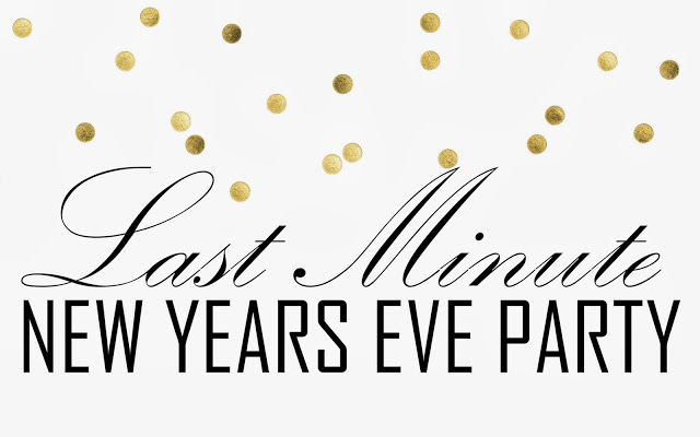 Last Minute New Year Party Printables and Ideas