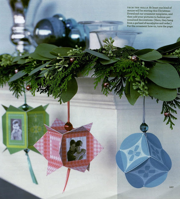Paper Photo Ornaments
