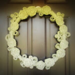 Rolled Flower Burlap Wreath