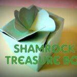 Make a Shamrock Treasure Box! {Free Pattern}