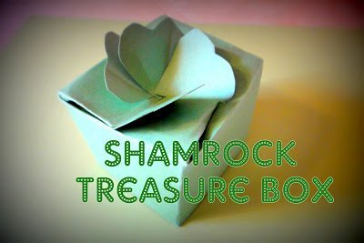 Make a Shamrock Treasure Box! {Free Pattern}