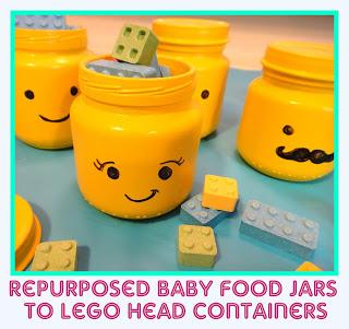 Baby Food Jar Lego Heads