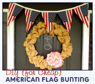 Easy {Cheap!} American Flag Bunting