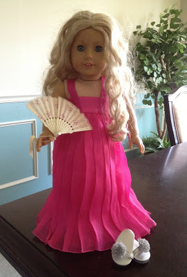 DIY Easy American Girl Ball Gown