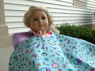 American Girl 18″ Doll Salon Cape Free Pattern