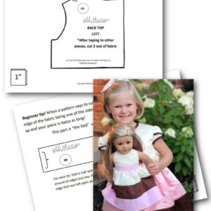 "Neapolitan 18"" Doll Dress Pattern and Class (Digital Download) All Things with Purpose Sarah Lemp"