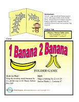 First Grade 1 Banana 2 Banana