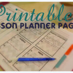Printable Lesson Planner Pages