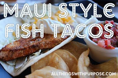Maui Style Fish Taco Recipe