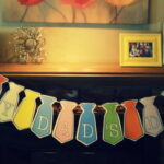 Father's Day Tie Banner Free Printable