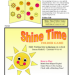 Kindergarten Shine Time Folder Game