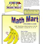 Math Mart Folder Game
