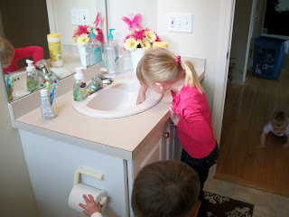 Children's Chores Age 5 Cleaning the Bathroom