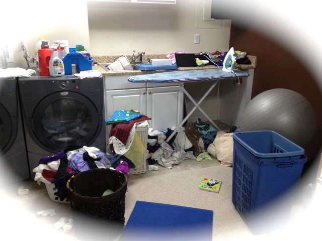 Messy Mondays: Laundry and Sewing Room