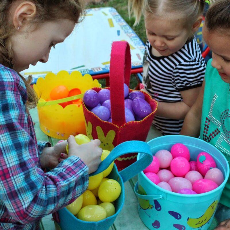 Easter Egg Hunting and Basket Pattern