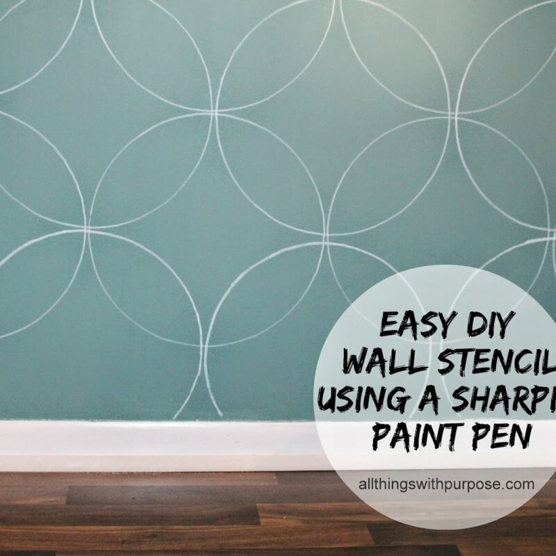 Easy DIY Wall Stencil with a Paint Pen