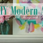 DIY Modern Art and Pillow Templates for Spring