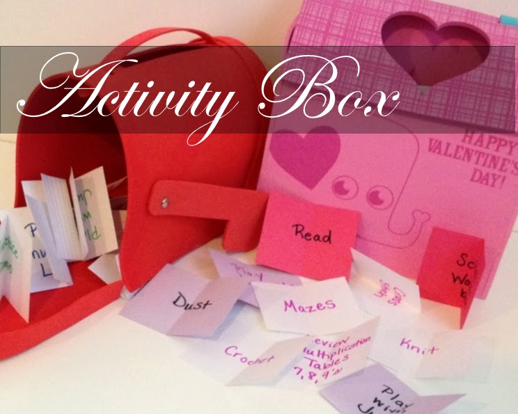 """Activity Box: A Solution to """"Mom, I'm Bored!"""""""