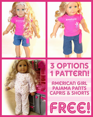 American Girl Jeans/Capris/Shorts Pattern