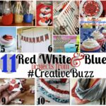 Red White and Blue Art Using Wood Shims