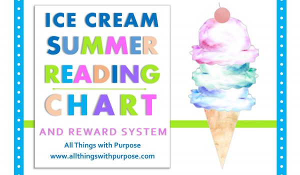 Ice Cream Summer Reading Chart