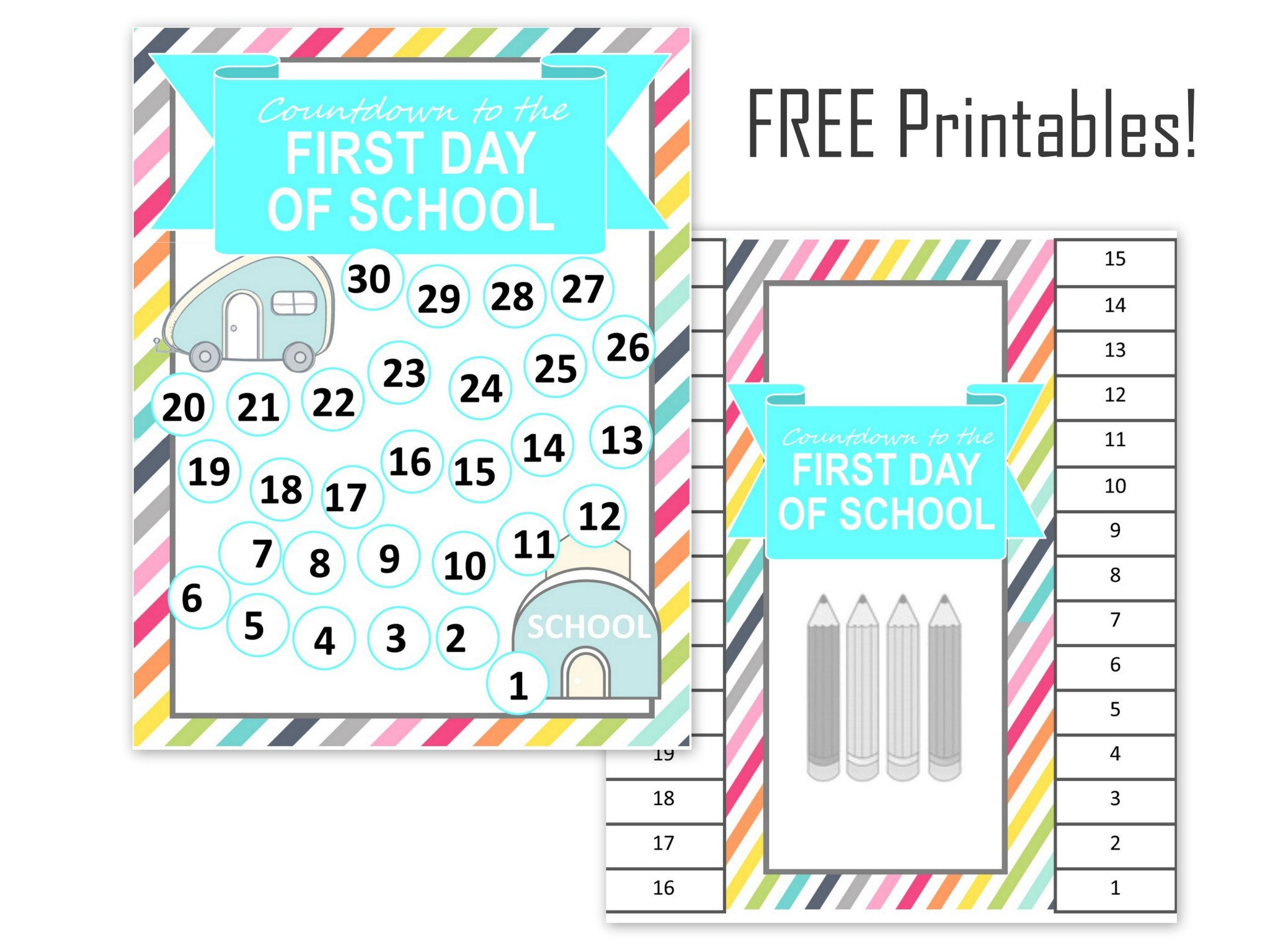 picture regarding Countdown Printable named Again towards Faculty Countdown Printable