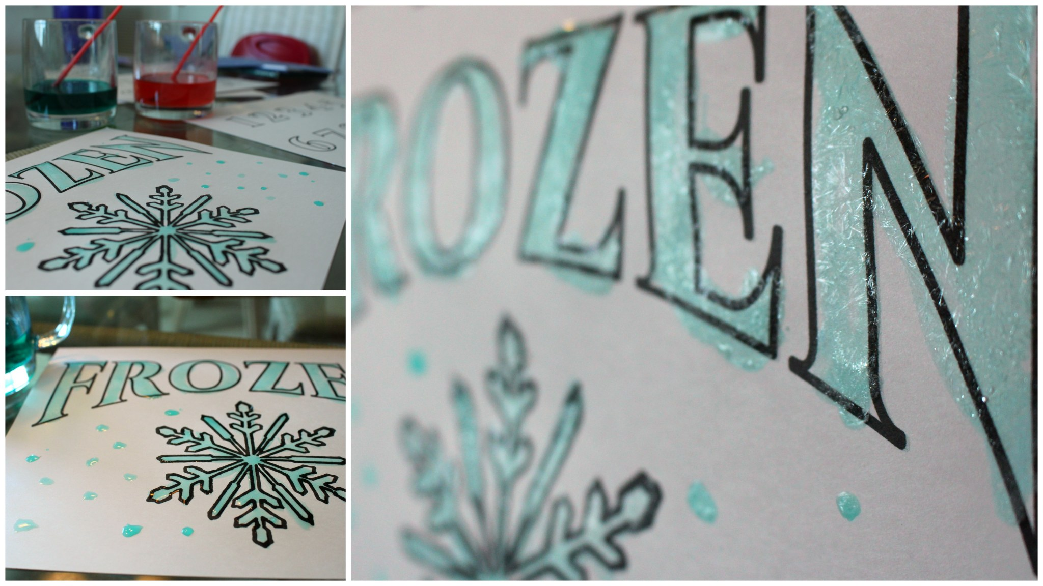 Frozen Printable Pages for Ice Painting