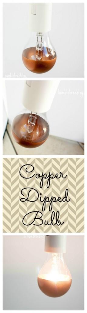 Copper Dipped Light Bulb