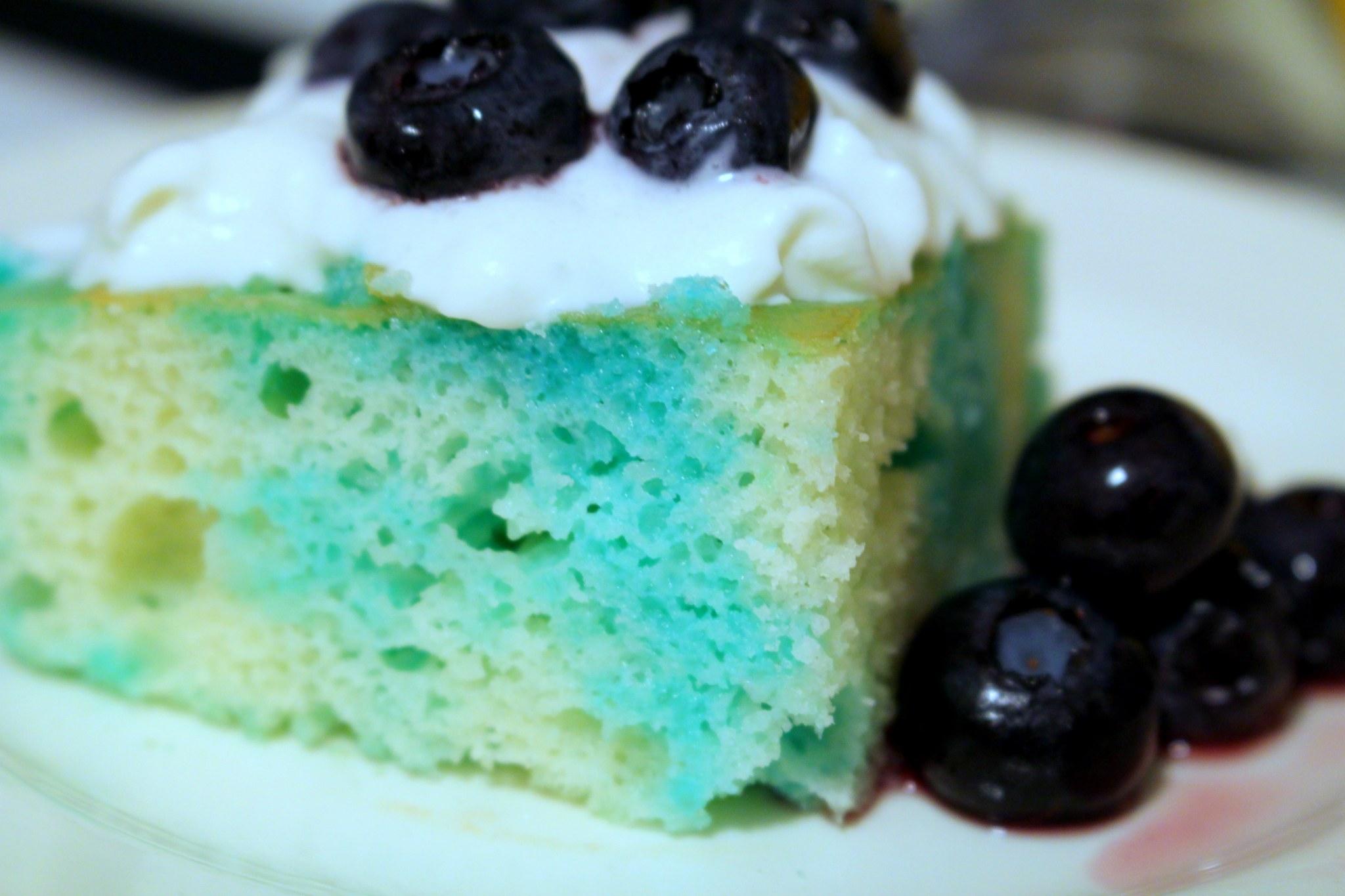Blueberry Lemonade Poke Cake