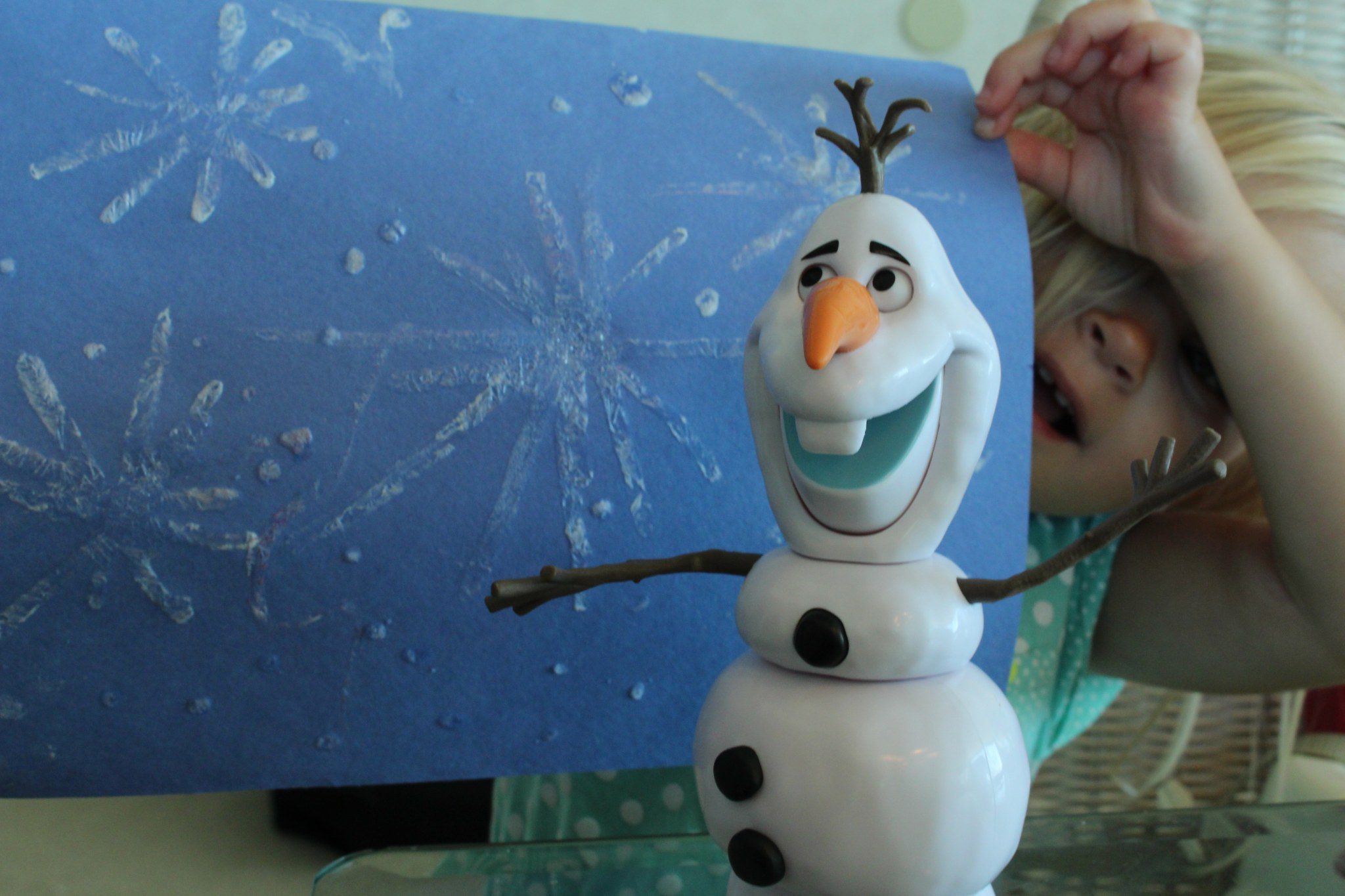 Frozen Ice Painting with Epsom Salt