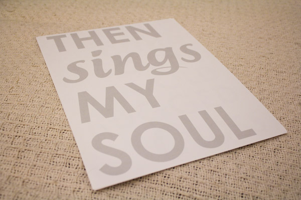 DIY Sheet Music Lyric Canvas Wall Art