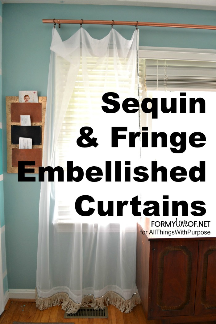 X Sequin & Fringe EMbellished Curtains
