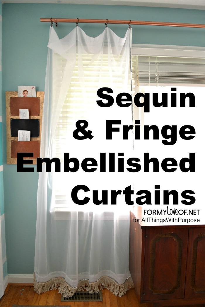X Sequin & Fringe EMbellished Curtains