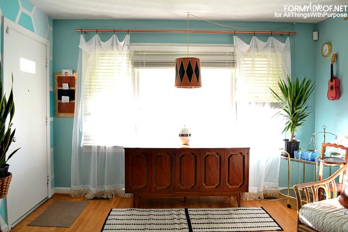 big window curtain