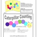 free caterpillar counting folder game