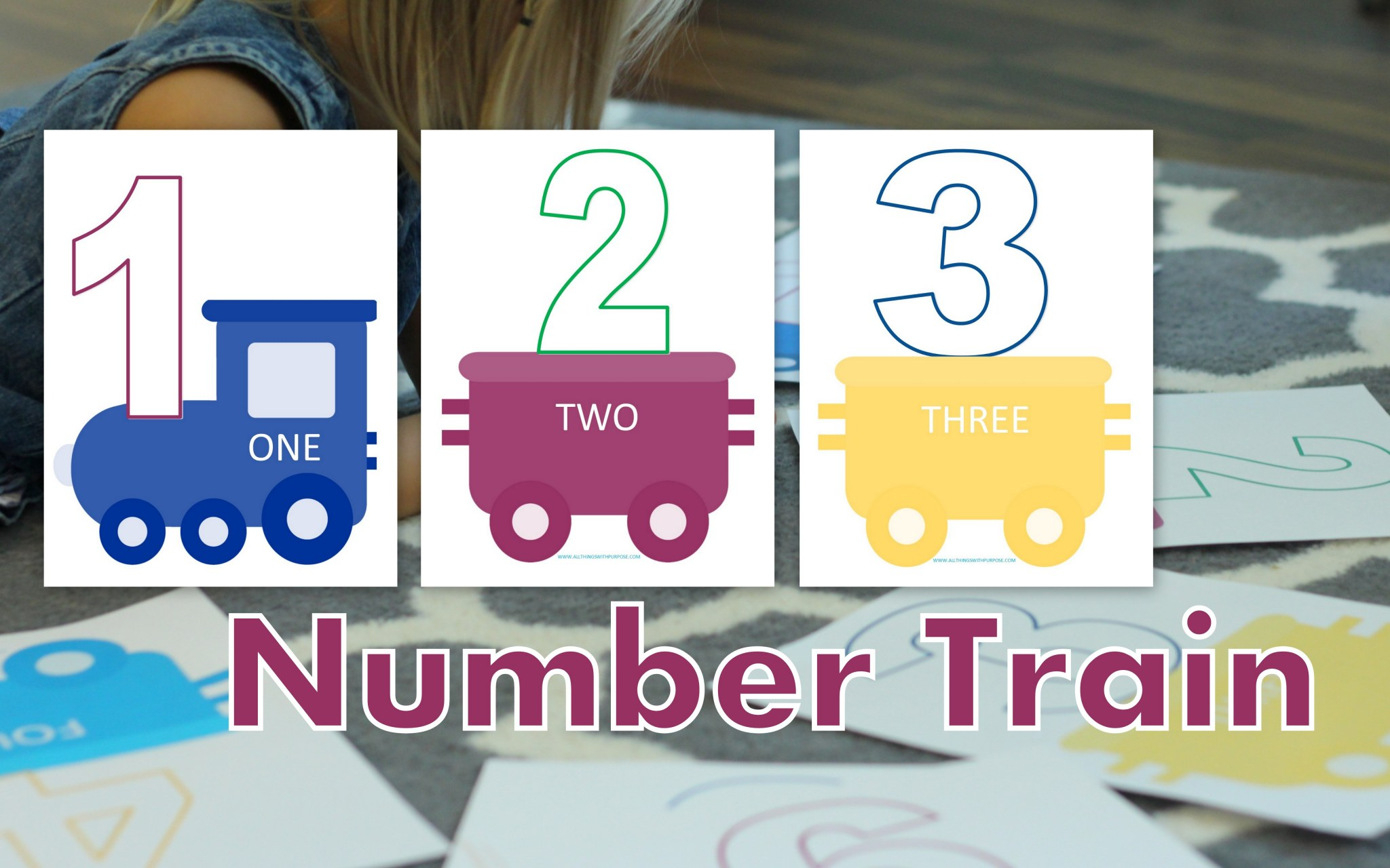 Preschool Number Train Printable 1