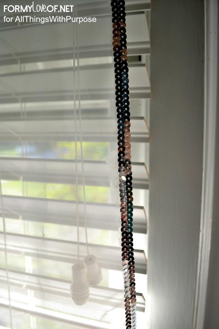 sequin edged curtain