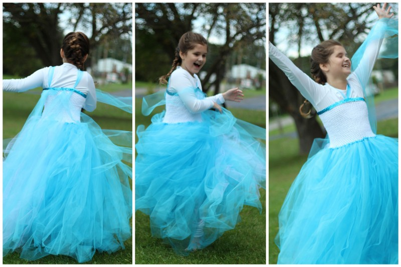 The Easiest DIY Elsa Dress {Ever!!}